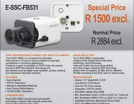 #24 untuk Design a Flyer for a Special Offer on Sony CCTV Camera Model FB-531 oleh Koicheva