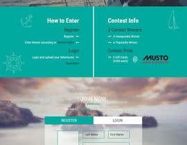 Nro 23 kilpailuun Design a Landing Page for an online Contest käyttäjältä Ankur0312