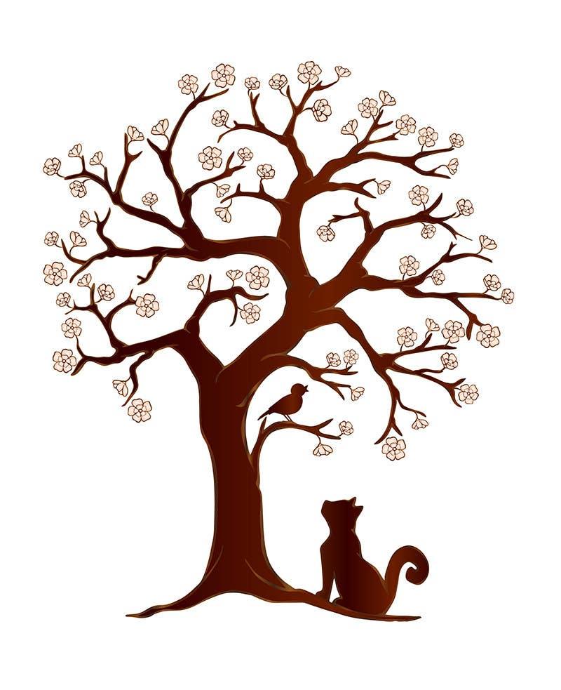 Inscrição nº 52 do Concurso para Wall decal design - Trees and Flowers
