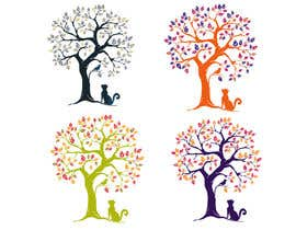 #54 untuk Wall decal design - Trees and Flowers oleh elenabsl