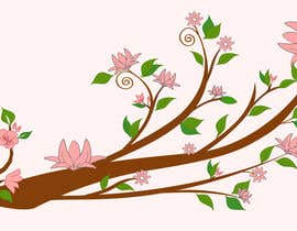 #51 untuk Wall decal design - Trees and Flowers oleh Simo23
