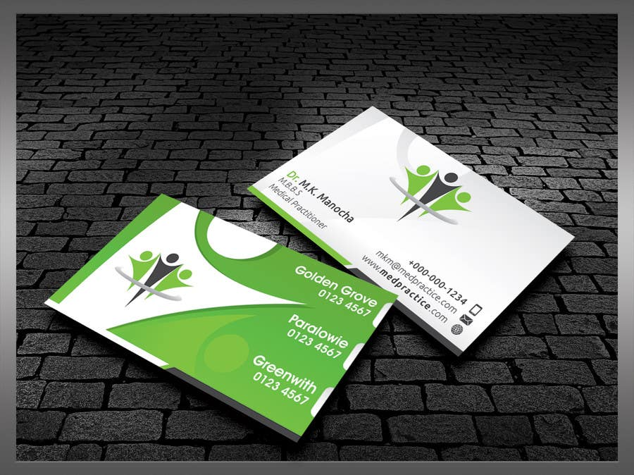 Entry #50 by kreativedhir for Medical Practice Business Card Design ...
