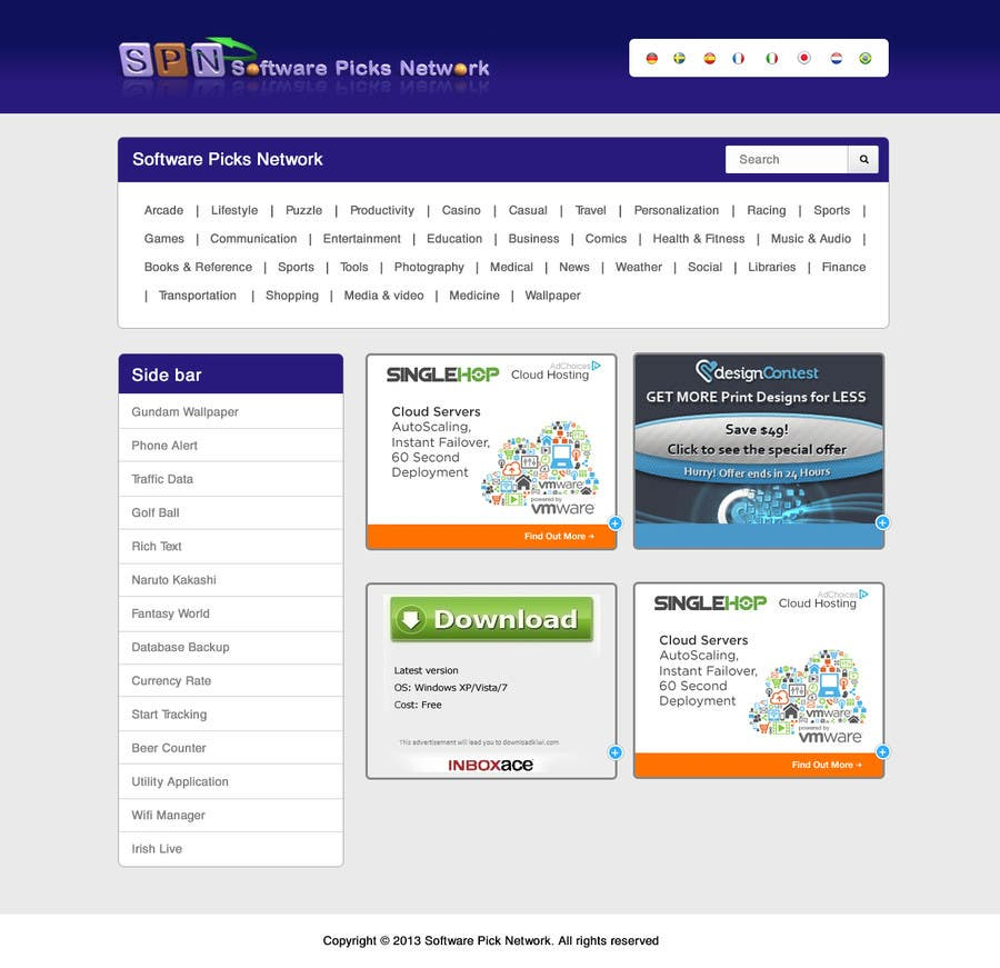 Bài tham dự cuộc thi #                                        2                                      cho                                         Enhancement of current website template