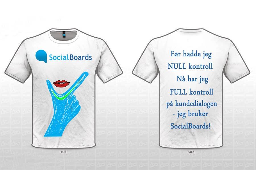 Penyertaan Peraduan #                                        30                                      untuk                                         T-shirt Design for SocialBoards