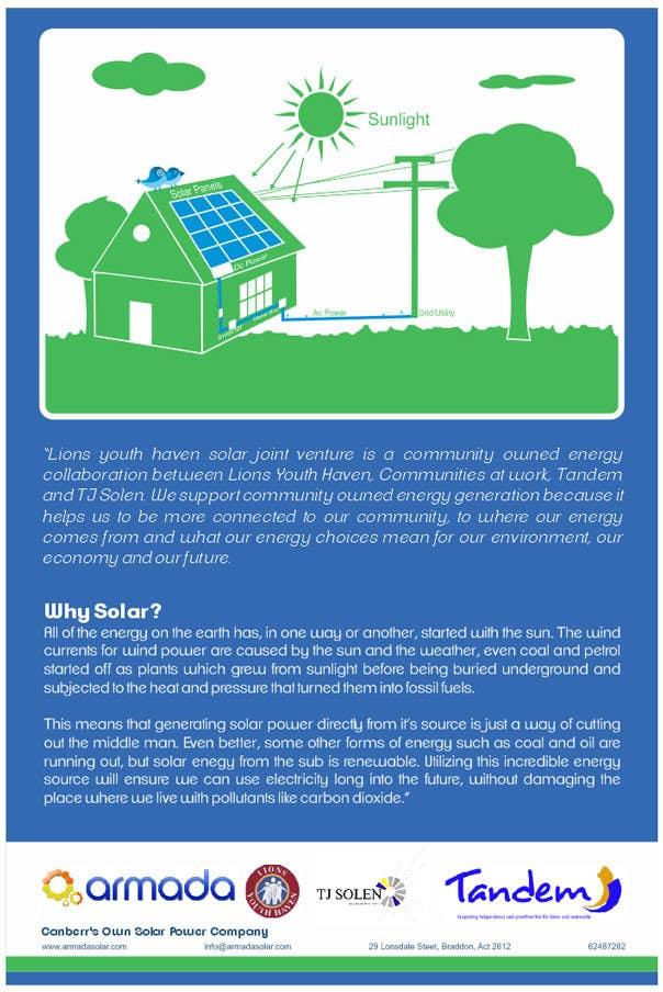Конкурсная заявка №9 для Graphic Design for Solar Poster