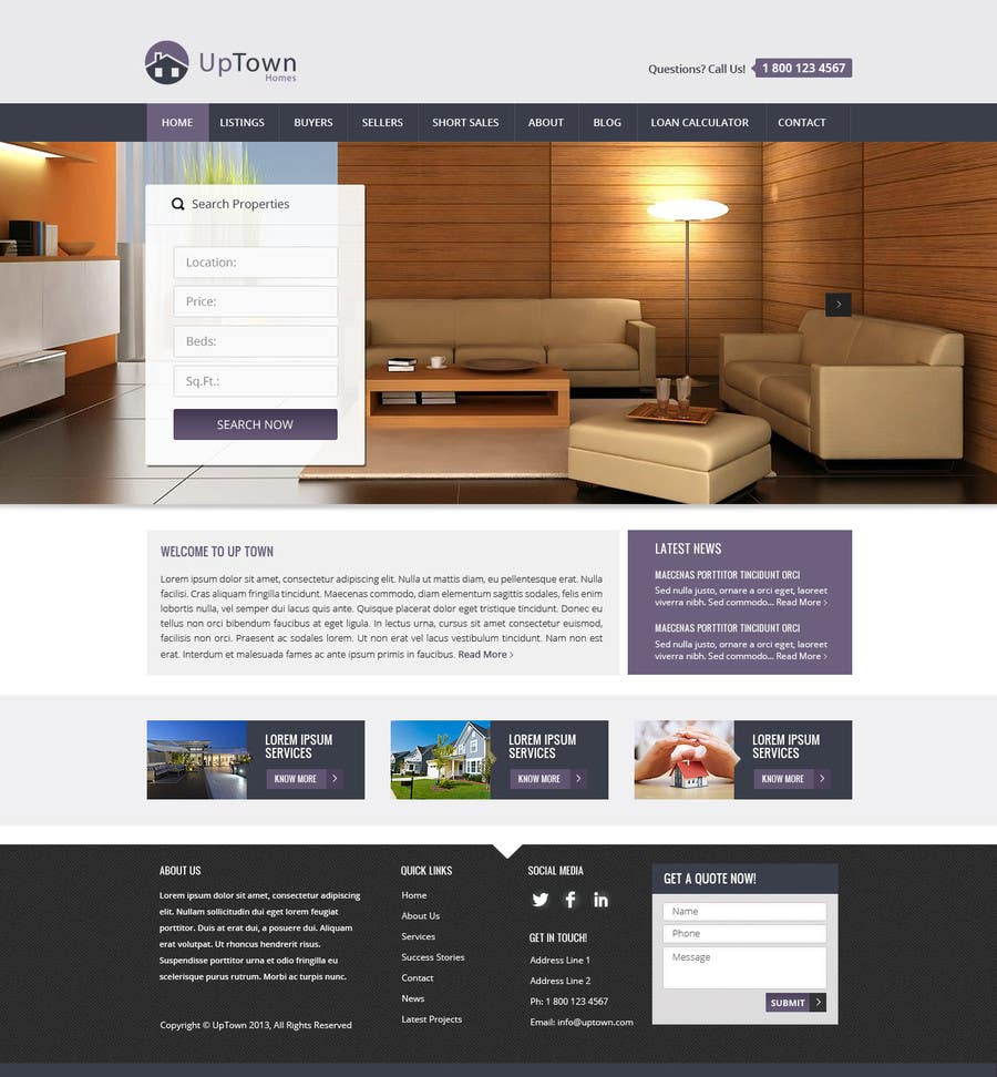 Penyertaan Peraduan #12 untuk Build a Website for Real Estate Company