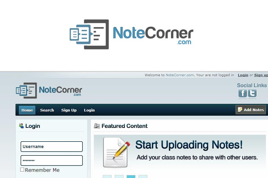 Proposition n°                                        16                                      du concours                                         Design a Logo for NoteCorner.com