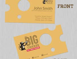 #11 cho Design some Business Cards for the Big Cheeze food truck bởi keithhollis1983