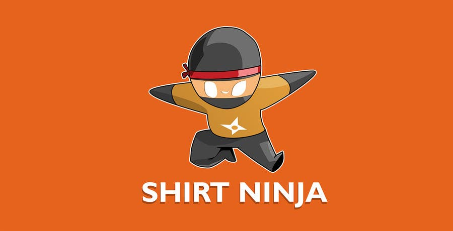 Kilpailutyö #23 kilpailussa Develop SHIRT NINJA logo / brand identity