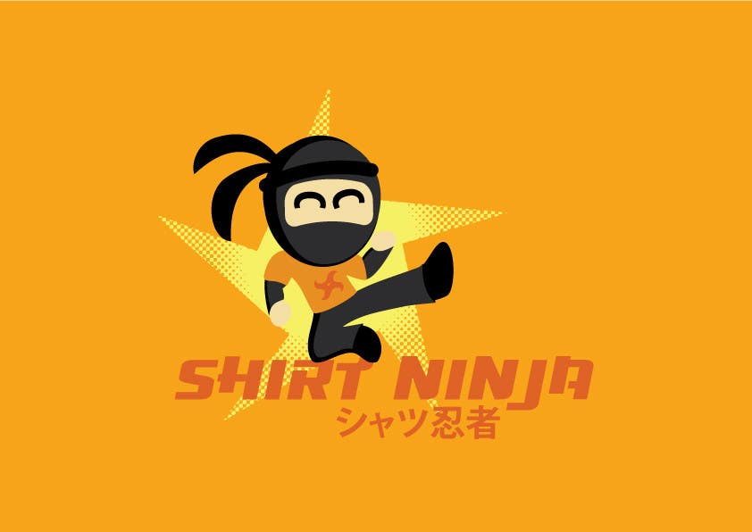 Kilpailutyö #18 kilpailussa Develop SHIRT NINJA logo / brand identity