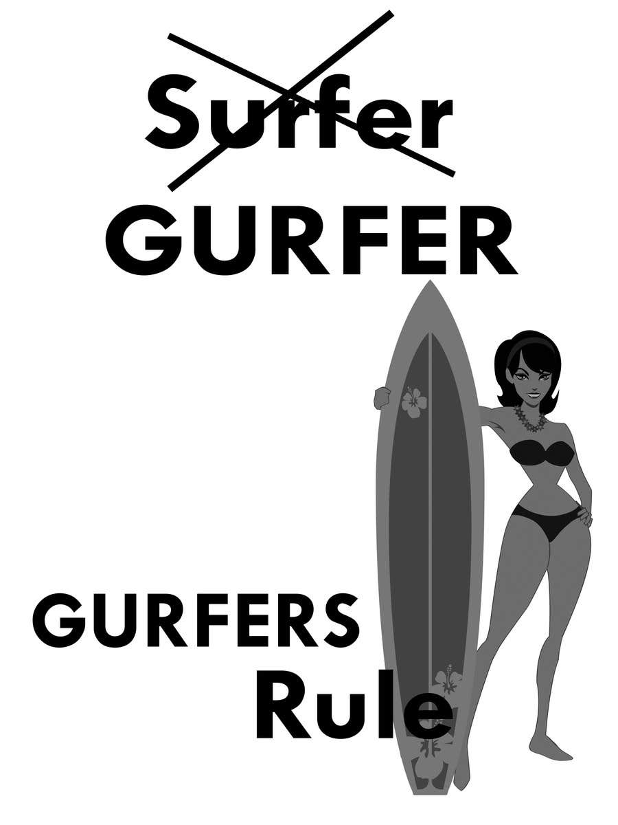 #32 for Design a T-Shirt for Girl Surfing by smute20