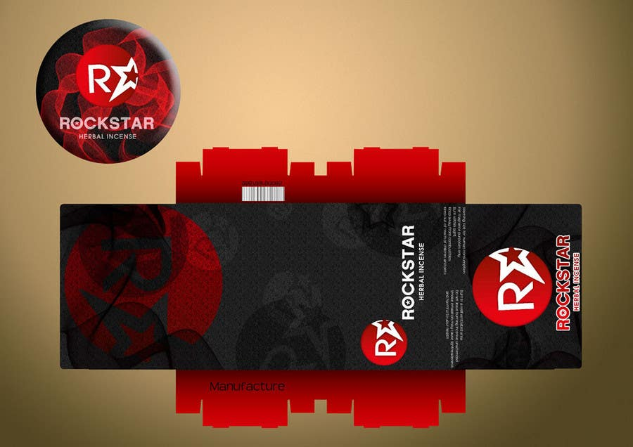 Contest Entry #                                        23                                      for                                         Print & Packaging Design for Rockstar Herbal Incense