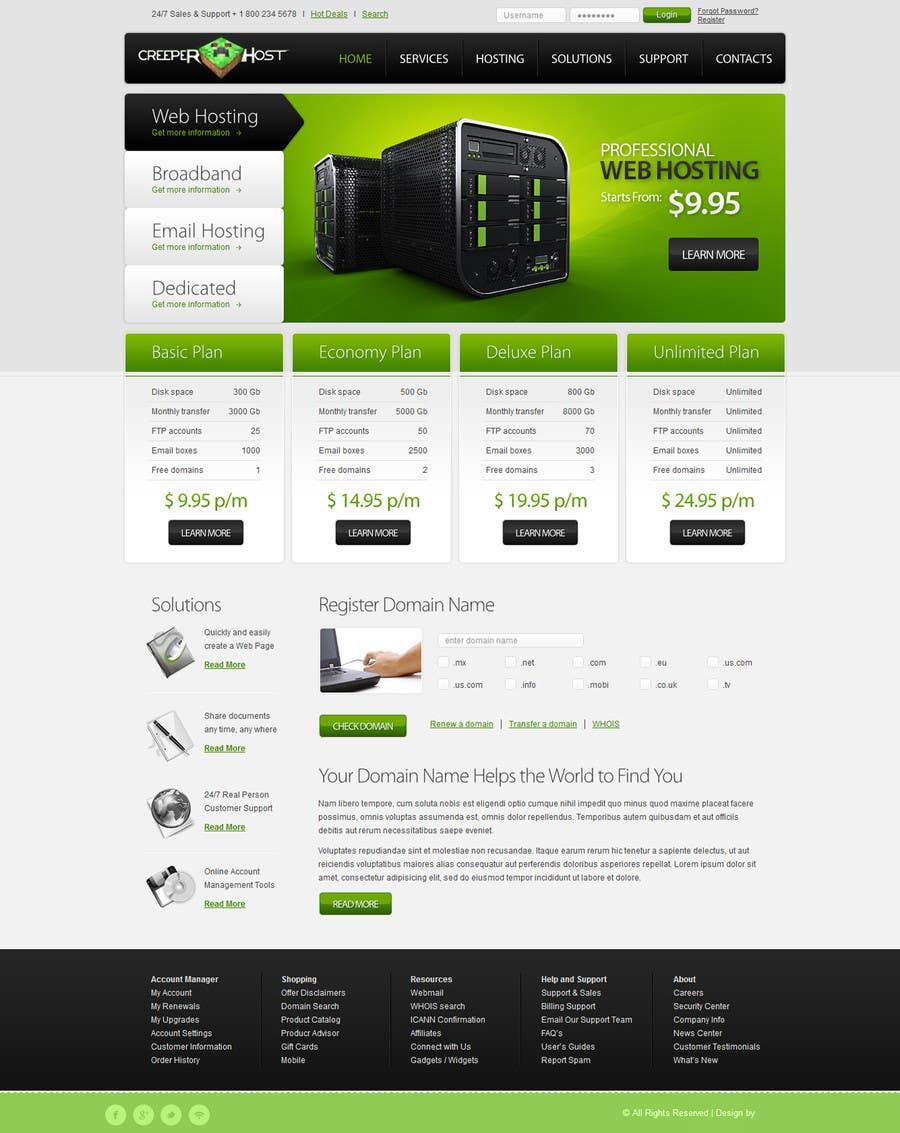 #44 for Design a Website for www.creeperhost.net by samarsoft2013