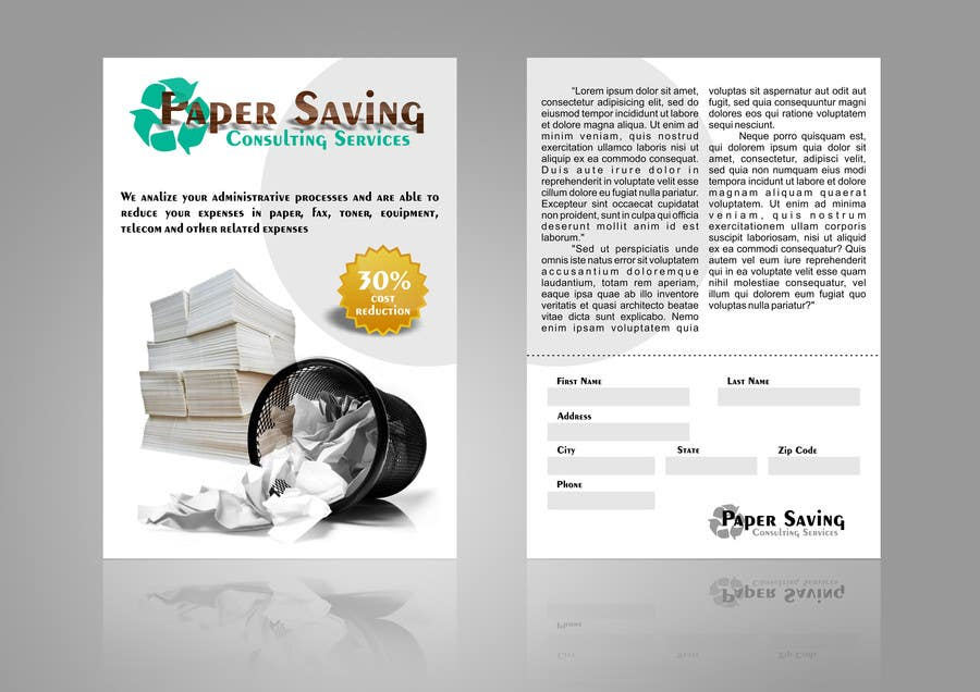 #7 for Ad to attract customer to get Paper Saving Consulting Services by Arttilla