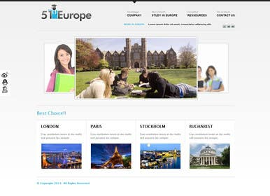 nº 13 pour Create a website for a student orientation company / 51europe.org par zicmedia