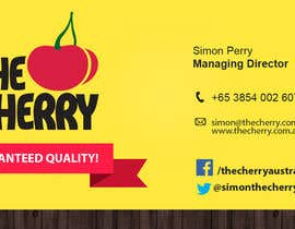 #42 untuk Design some Business Cards for The Cherry oleh alejoriad