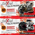 Contest Entry #2 for Voucher Design graphic front & Back for helmet brand Size: 7x14cm