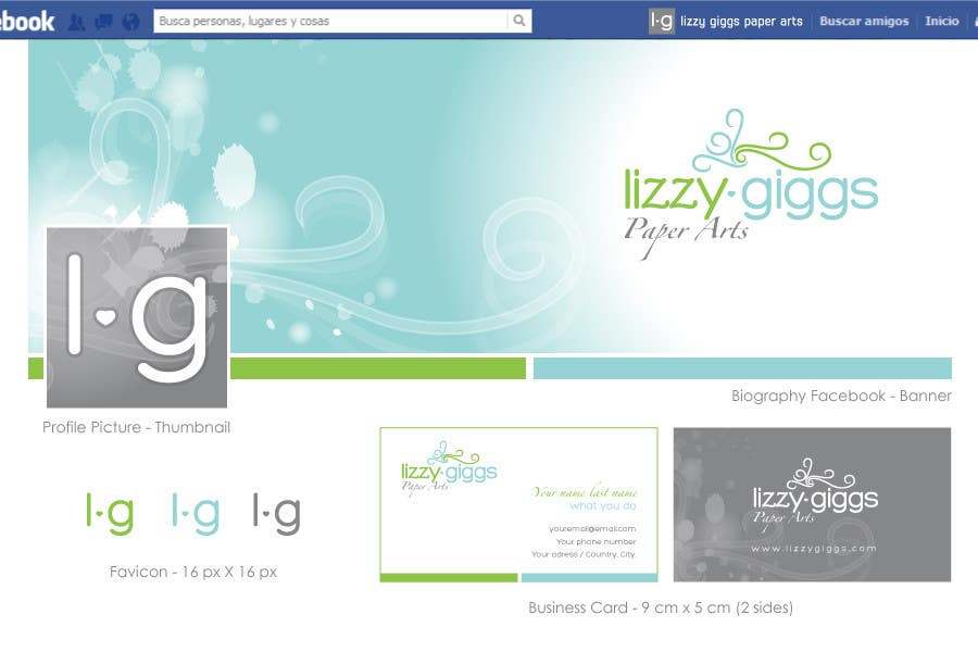 Proposition n°102 du concours lizzy giggs Paper Arts