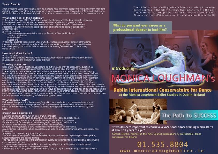 Inscrição nº 27 do Concurso para Design a Flyer for a prestigious dance academy