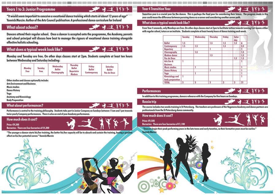 Proposition n°14 du concours Design a Flyer for a prestigious dance academy