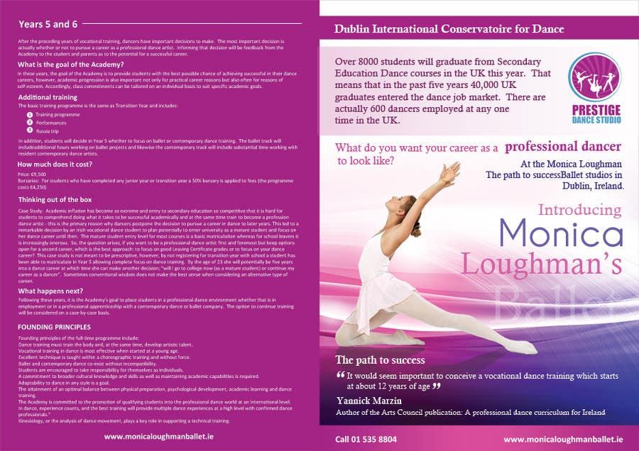 Inscrição nº 20 do Concurso para Design a Flyer for a prestigious dance academy