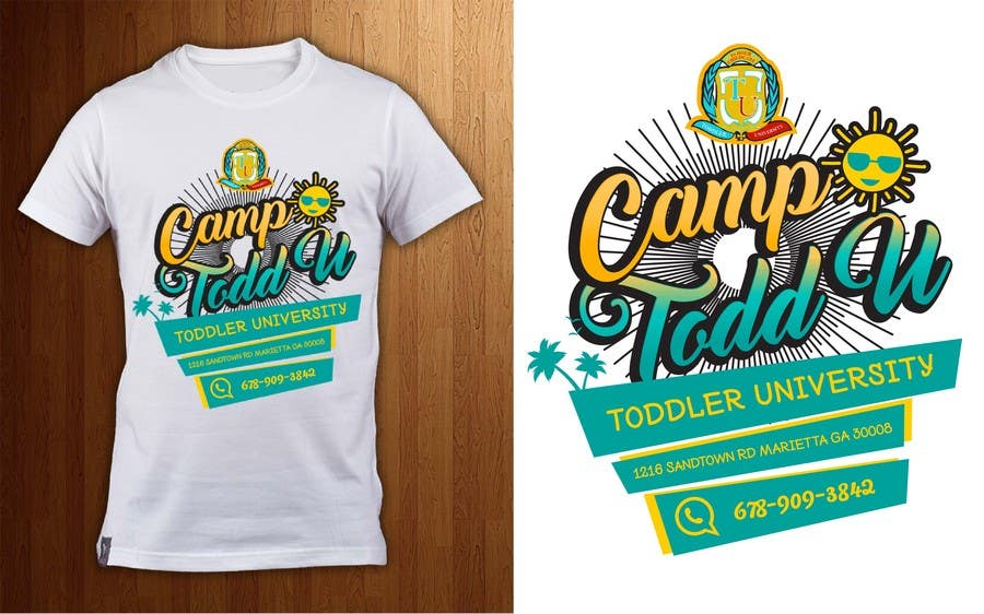 Kilpailutyö #21 kilpailussa ToddU Summer Camp T Shirt Design