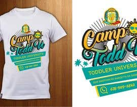 Nro 21 kilpailuun ToddU Summer Camp T Shirt Design käyttäjältä ShadaoPartners