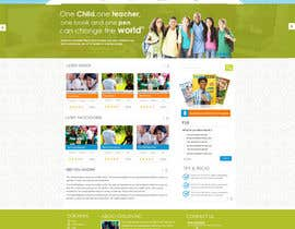 #53 for Design a Website Mockup for educational online magazine for children af MagicalDesigner