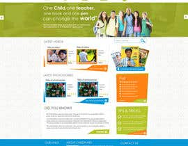 #56 cho Design a Website Mockup for educational online magazine for children bởi MagicalDesigner