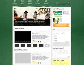 #37 for Design a Website Mockup for educational online magazine for children by tiagocosta84
