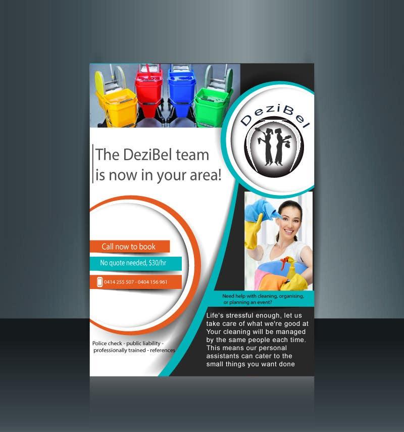 Kilpailutyö #35 kilpailussa Logo + Flyer design for cleaning business