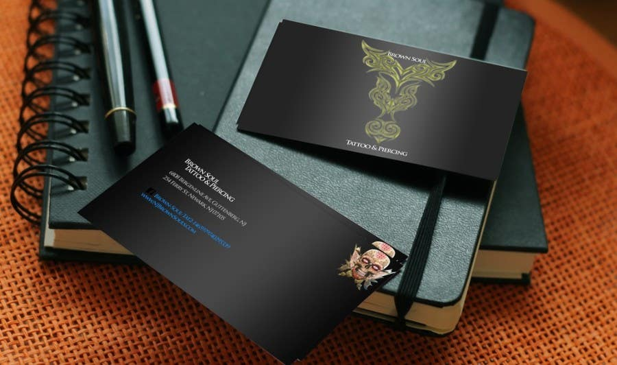 Entry 13 By Busilapaul For Tattoo Shop Business Card Design