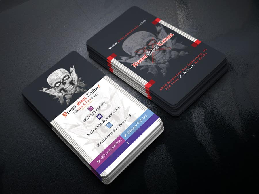 Entry #23 by robiul215 for Tattoo Shop business card design | Freelancer