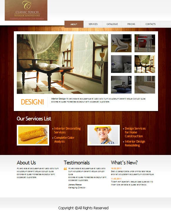 #22 for Build a Website for Remodelling company by zicmedia