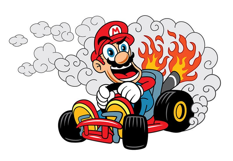 #20 for Draw Super Mario Kart caricature by tORTES