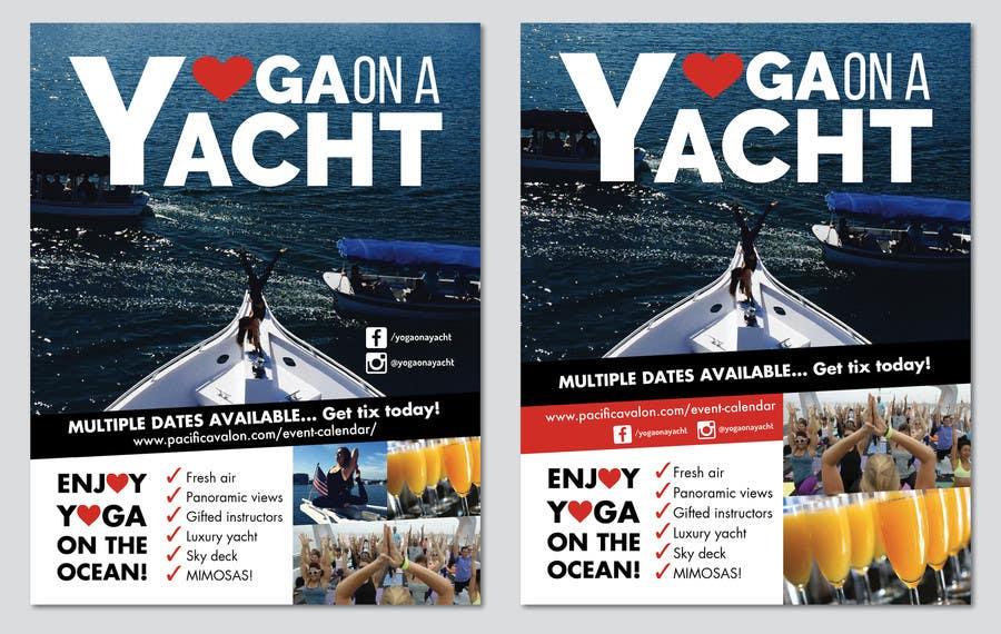 Penyertaan Peraduan #                                        34                                      untuk                                         Design Yoga on a Yacht Flyer