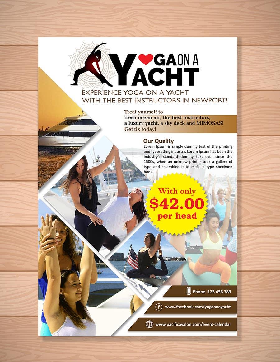 Penyertaan Peraduan #                                        35                                      untuk                                         Design Yoga on a Yacht Flyer