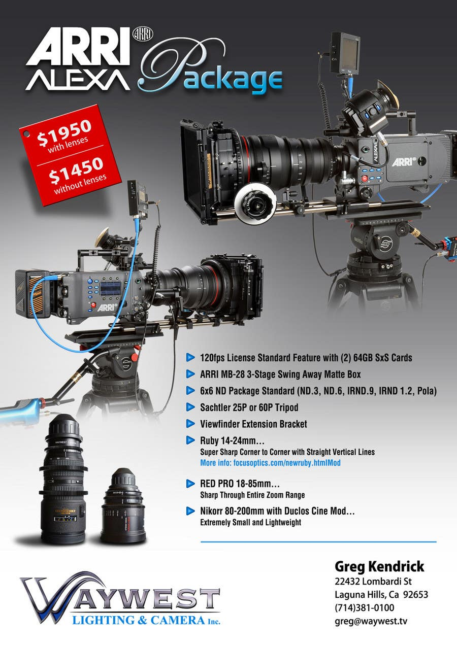 Contest Entry #                                        23                                      for                                         Sales Email Brochure Design for Waywest Lighting & Camera Inc.