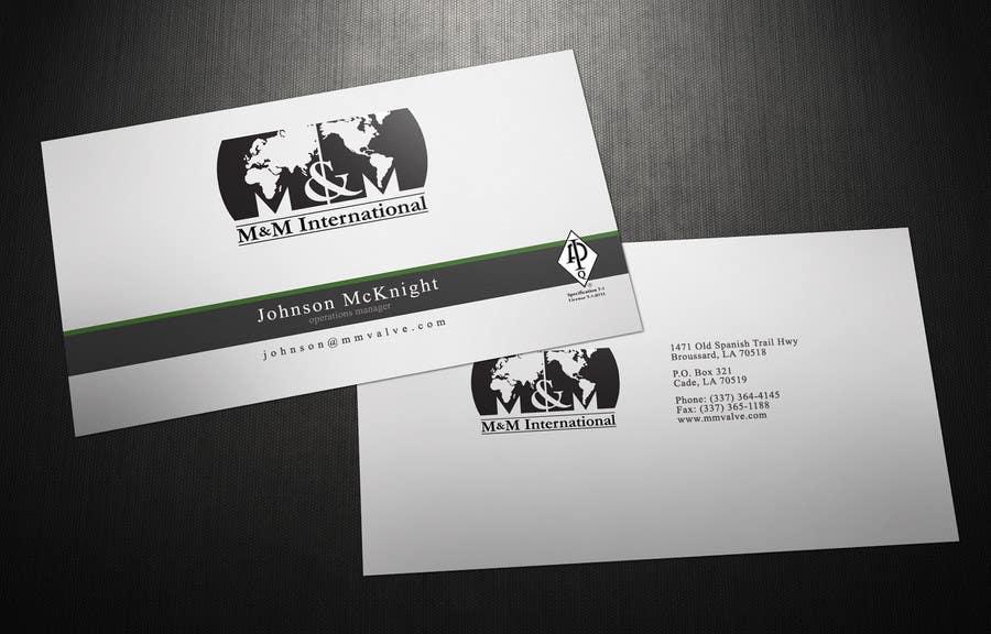 Penyertaan Peraduan #104 untuk Business Card Design for M&M International