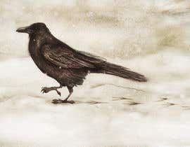 #58 for Illustration of Raven in Snow by marinaChe
