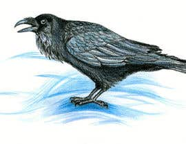 #28 cho Illustration of Raven in Snow bởi Julia73