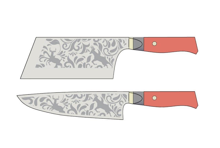 Penyertaan Peraduan #                                        11                                      untuk                                         I need a Grafik Design to etch on my Kickstarter Knife Series