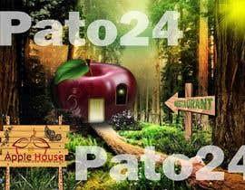 #2 untuk Фотоколлаж или оригинальная картина, обыгрывающая яблоко-домик oleh Pato24