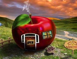 #9 untuk Фотоколлаж или оригинальная картина, обыгрывающая яблоко-домик oleh Pato24