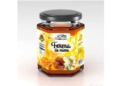#67 for Label design for Honey Jar (eticheta miere) by catalinorzan