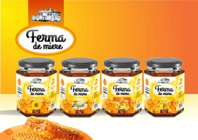 #75 for Label design for Honey Jar (eticheta miere) by catalinorzan