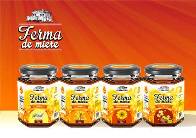 #78 for Label design for Honey Jar (eticheta miere) by catalinorzan
