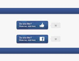 #4 for Design Facebook Like Button For Widget - To Be Seen by Millions! by khanprogrammer