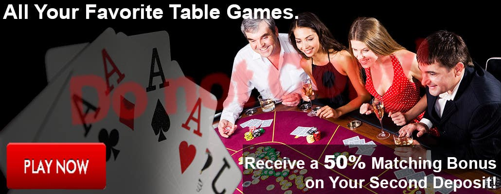 Contest Entry #9 for Table Games Banner for an Online Casino