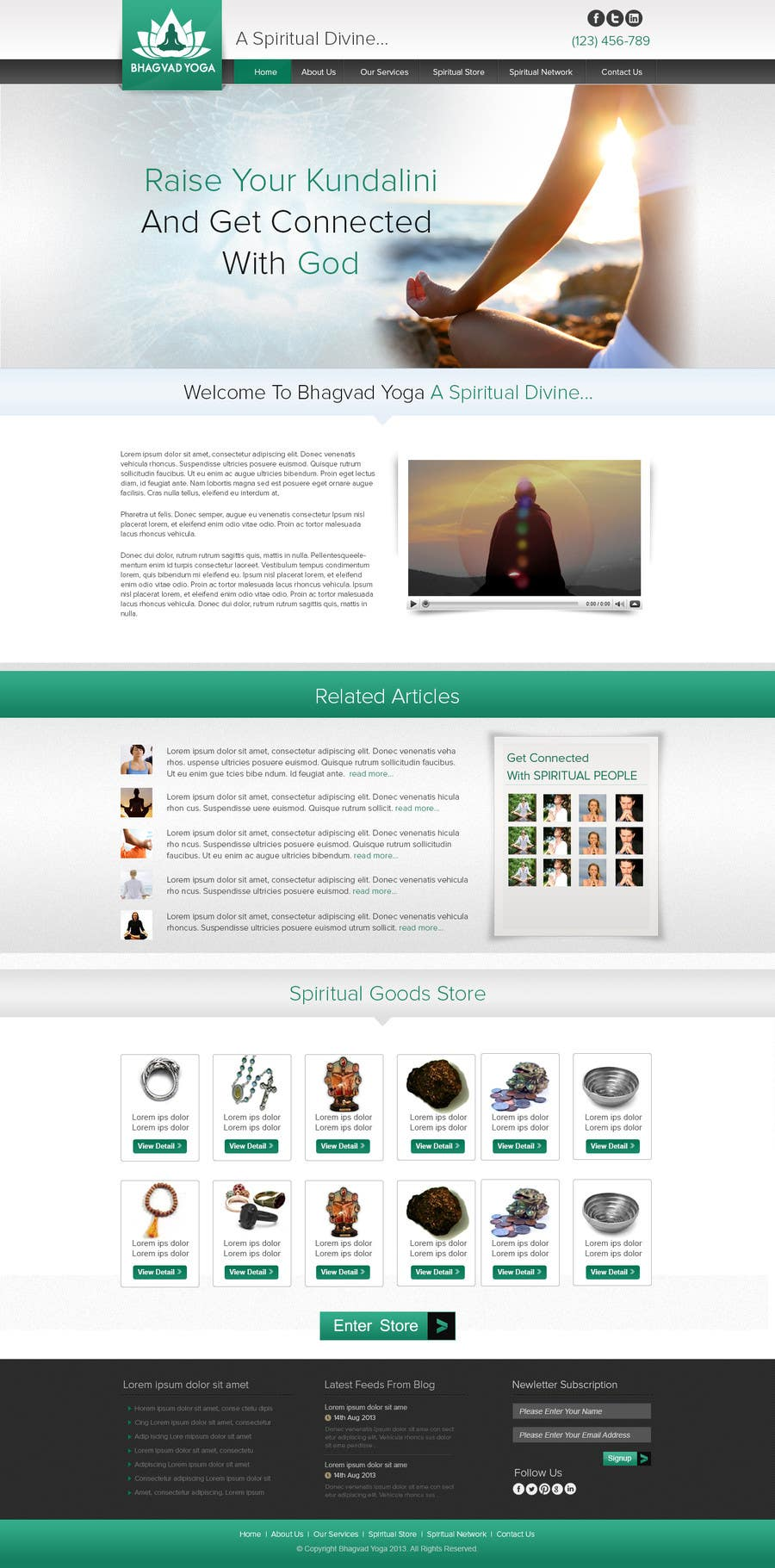 #42 for Design a Website Mockup for Bhagvad Yoga Website by atularora